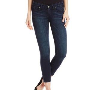 Paige Womens Verdugo Ankle Crop Jeans Darkwash
